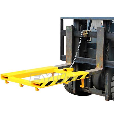 叉车双桶吊具详细介绍:   纯机械结构设计,仅依靠叉车的动作,一次